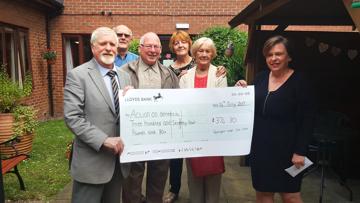 Washington Lodge Nursing Home - Cheque Presentation